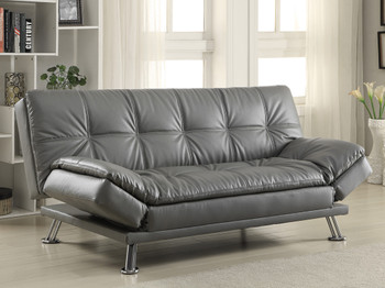 Swell Dilleston Gray Futon Camellatalisay Diy Chair Ideas Camellatalisaycom