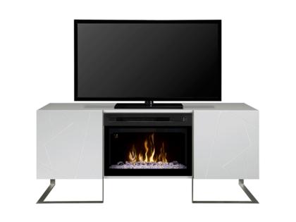 Rainier White Fireplace Media Console