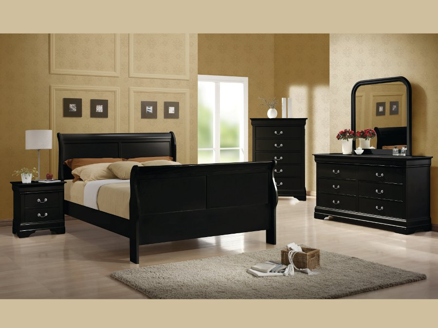Louis philippe black full 4 pcs set - Louis philippe bedroom collection ...