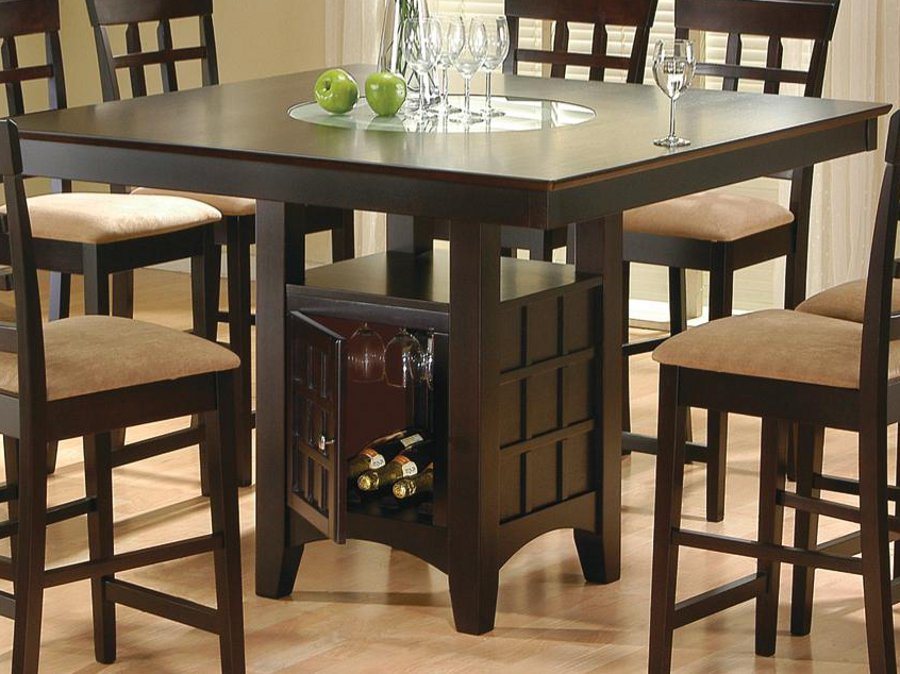 Square Dark Height Table