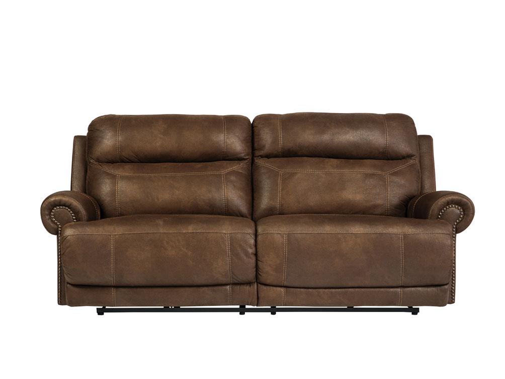 Austere Brown Dual Power Recliner Sofa